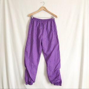 Vintage Purple SWOOSHY 90s athletic pants PL